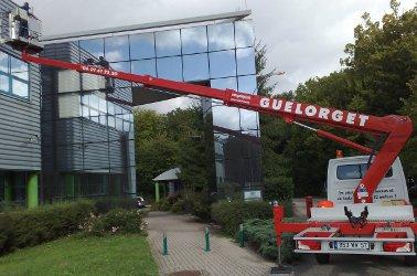 Caractéristiques de la nacelle sur porteur VL télescopique - TB 240 en location chez Guelorget à Nancy  en Lorraine